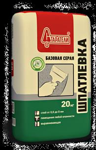 Шпатлевка Базовая серая Старатели, 20 кгШпатлевки<br>Для отделки стен, а также поверхностей, подверженных воздействию влаги и перепадам температуры внутри помещений.<br>