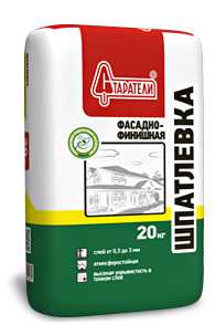 Шпатлевка Фасадно-финишная Старатели, 20 кгШпатлевки<br>Идеально белая и гладкая шпатлевка для фасадов и внутренних работ.<br>