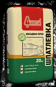 Шпатлевка Фасадная серая Старатели, 20 кгШпатлевки<br>Высокая укрывистость при нанесении тонким слоем. Обладает высокой пластичностью.<br>