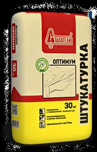 Штукатурка Оптимум Старатели, 30 кгШтукатурки<br>Предназначена для механизированного и ручного оштукатуривания стен и потолков, по кирпичным, бетонным, пено- газобетонным, гипсовым и пр.<br>
