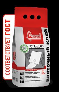 Плиточный клей Стандарт Старатели, 5 кгПлиточные и монтажные клеи<br>Для укладки керамической плитки на стены и пол в помещениях&amp;nbsp;<br>с любой влажностью. &amp;nbsp;<br>Соответствует ГОСТ Р 56387-2015<br>